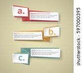 vector infographic origami...   Shutterstock .eps vector #597000395