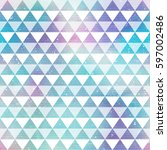 bright triangles. seamless... | Shutterstock .eps vector #597002486