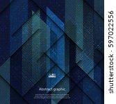 vector geometric abstract... | Shutterstock .eps vector #597022556