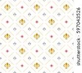 seamless vector pattern. modern ...   Shutterstock .eps vector #597043526