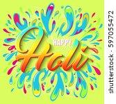 colorful flyer  banner or...   Shutterstock .eps vector #597055472