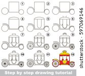 kid game to develop drawing... | Shutterstock .eps vector #597069146