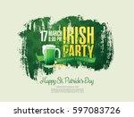 happy saint patrick's day.... | Shutterstock .eps vector #597083726