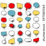 a set of comic speech bubbles... | Shutterstock .eps vector #597085565
