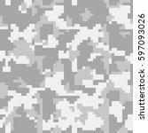 digital pixel camouflage... | Shutterstock .eps vector #597093026