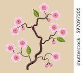 vector illustrations blooming...   Shutterstock .eps vector #597097205