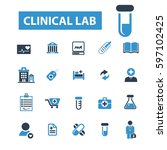 clinical lab icons  | Shutterstock .eps vector #597102425