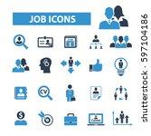 job icons | Shutterstock .eps vector #597104186