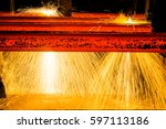 interior view of a steel... | Shutterstock . vector #597113186