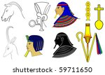 egyptian motives and ornaments  ... | Shutterstock .eps vector #59711650