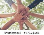 unify communications... | Shutterstock . vector #597121658