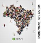 large group of people in form... | Shutterstock .eps vector #597129785