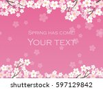 a vector background image with... | Shutterstock .eps vector #597129842