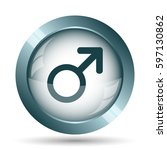 male sign icon. internet button ... | Shutterstock . vector #597130862