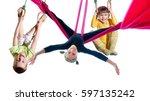 group of barefeet children... | Shutterstock . vector #597135242