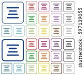 text align center color flat... | Shutterstock .eps vector #597139055