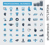 professional business icons | Shutterstock .eps vector #597139346