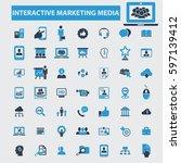 interactive marketing media... | Shutterstock .eps vector #597139412