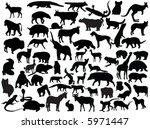 vectors of animals | Shutterstock .eps vector #5971447