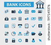 bank icons | Shutterstock .eps vector #597145376