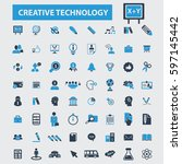 creative technology icons   | Shutterstock .eps vector #597145442