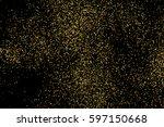 gold glitter texture isolated... | Shutterstock . vector #597150668