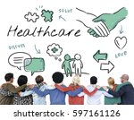 mental health care sketch... | Shutterstock . vector #597161126
