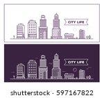 vector illustration of white...   Shutterstock .eps vector #597167822