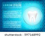 toothpaste  toothbrush.human... | Shutterstock .eps vector #597168992