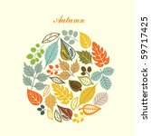 autumn leaf background | Shutterstock .eps vector #59717425