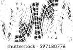 grunge black and white urban... | Shutterstock .eps vector #597180776