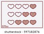 heart background | Shutterstock .eps vector #597182876