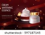 vector bottle cream essence... | Shutterstock .eps vector #597187145