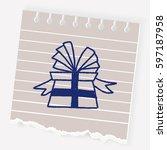 doodle gift | Shutterstock .eps vector #597187958