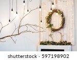 Christmas Wreath Over Fireplac...