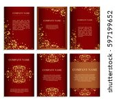 set of design templates for...   Shutterstock .eps vector #597199652