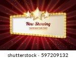 showtime retro signs. retro... | Shutterstock .eps vector #597209132