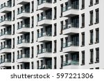 building exterior   apartment... | Shutterstock . vector #597221306