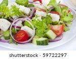 Greek Salad Shot In Natural...