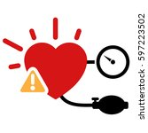 high blood pressure icon | Shutterstock .eps vector #597223502