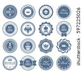 emblems  badges and stamps  ... | Shutterstock .eps vector #597225026