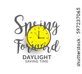 daylight saving time poster or... | Shutterstock .eps vector #597237065