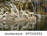 fountain in the garden of the... | Shutterstock . vector #597242552