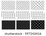 mesh fence vector set   Shutterstock .eps vector #597243416