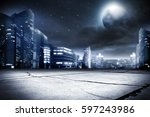 background of city street and... | Shutterstock . vector #597243986