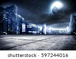 background of city street and... | Shutterstock . vector #597244016