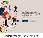 couple dancing kizomba in... | Shutterstock . vector #597244175