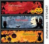halloween banners | Shutterstock .eps vector #59724847