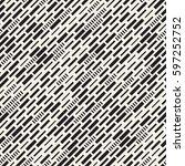 vector seamless black and white ... | Shutterstock .eps vector #597252752