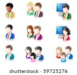 various people glossy iconset 2 | Shutterstock .eps vector #59725276